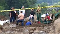 Bosnia floods expose remains of missing war victims