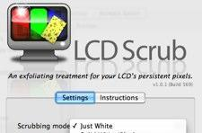 LCD Scrub cleans those stubborn stains from your screen