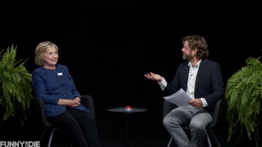 Zach Galifianakis uncomfortably questions Hillary Clinton in incredible 'Between Two Ferns' video