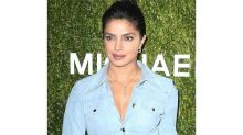 Priyanka Chopra's Blue Suede Dress Is A Comfy Party-wear That We All Need