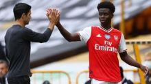 Mikel Arteta tells Arsenal teenager Bukayo Saka to 'enjoy the moment'