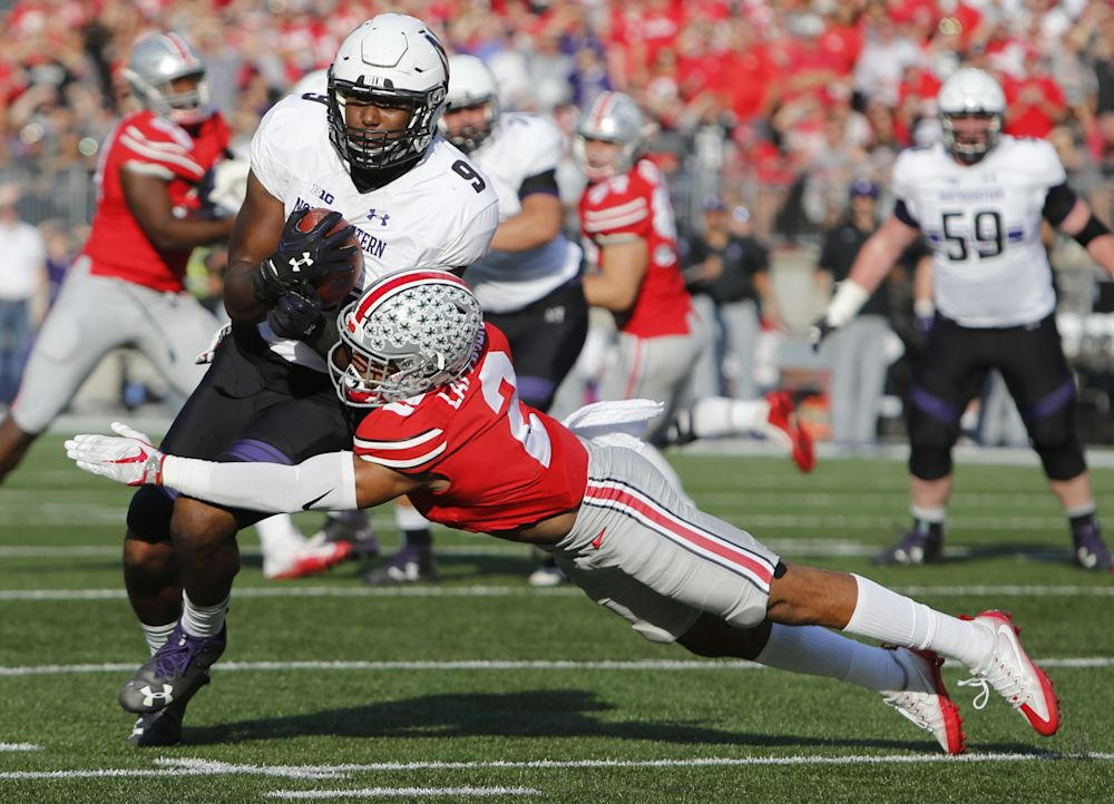Ohio State's Marshon Lattimore had four interceptions this season. (AP Photo/Jay LaPrete)