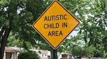 Sign warning drivers about child with autism vandalized over controversial wording