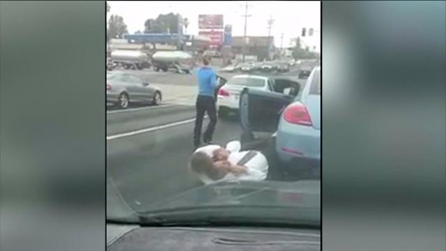 LADP Cop, Attorney Road Rage Brawl Caught on Video
