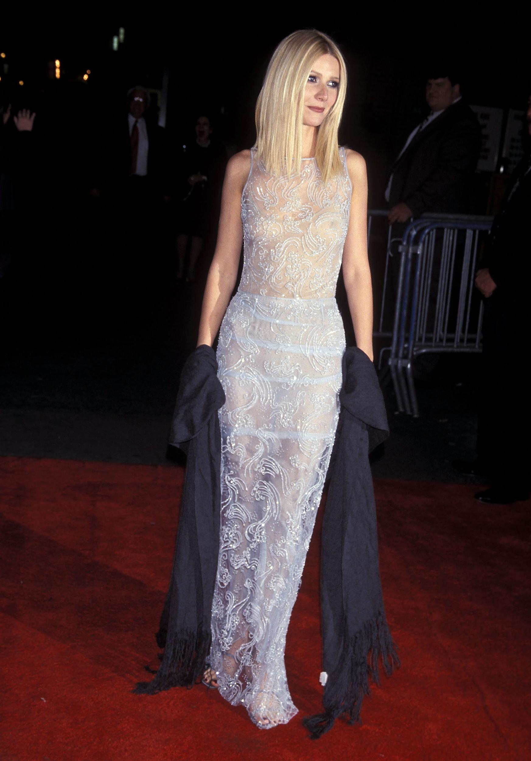 Actress Gwyneth Paltrow attends the 'Shakespeare in Love' New York City Premiere on December 3, 1998 at the Ziegfeld Theater in New York City. (Photo by Ron Galella, Ltd./WireImage)