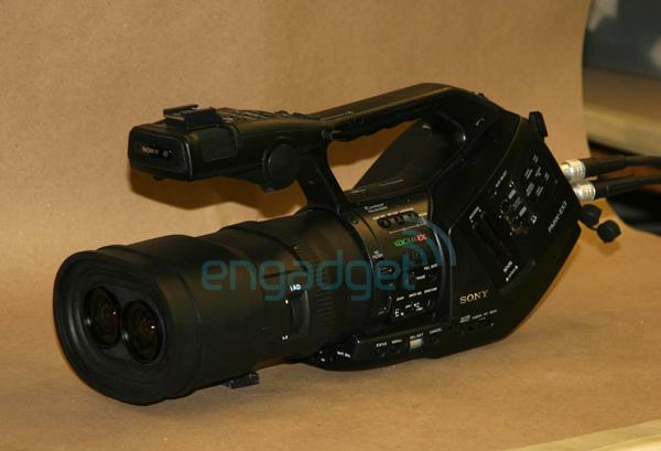 Sony EX3 prototype 3D camcorder spotted, destined for retail channels? (update: we've got specs)