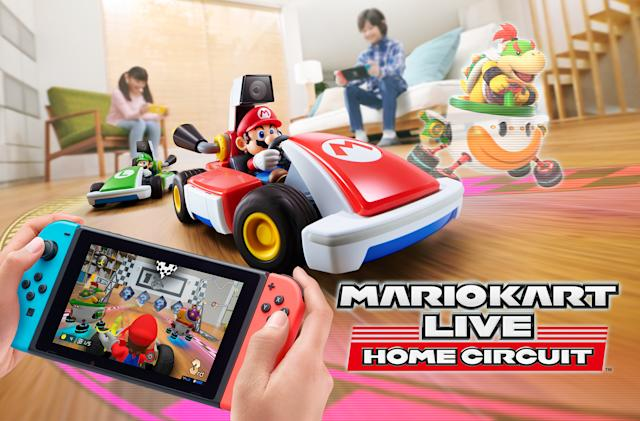 Race tiny, real-life RC cars in 'Mario Kart Live: Home Circuit'