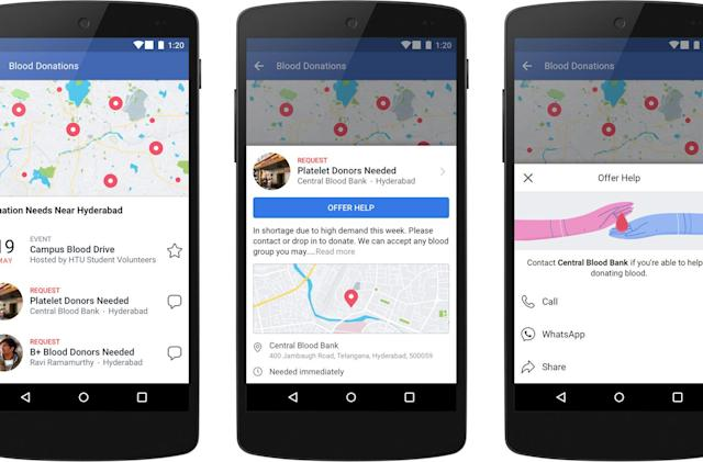 Facebook provides more ways to help in a crisis