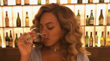 Beyonce Sparks Breastfeeding Concerns By Sipping Wine in Date Night Photo