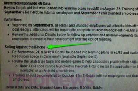 """T-Mobile prompts employees to """"sell against the iPhone"""""""
