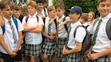 Boys are wearing skirts to school to protest 'no shorts' policy
