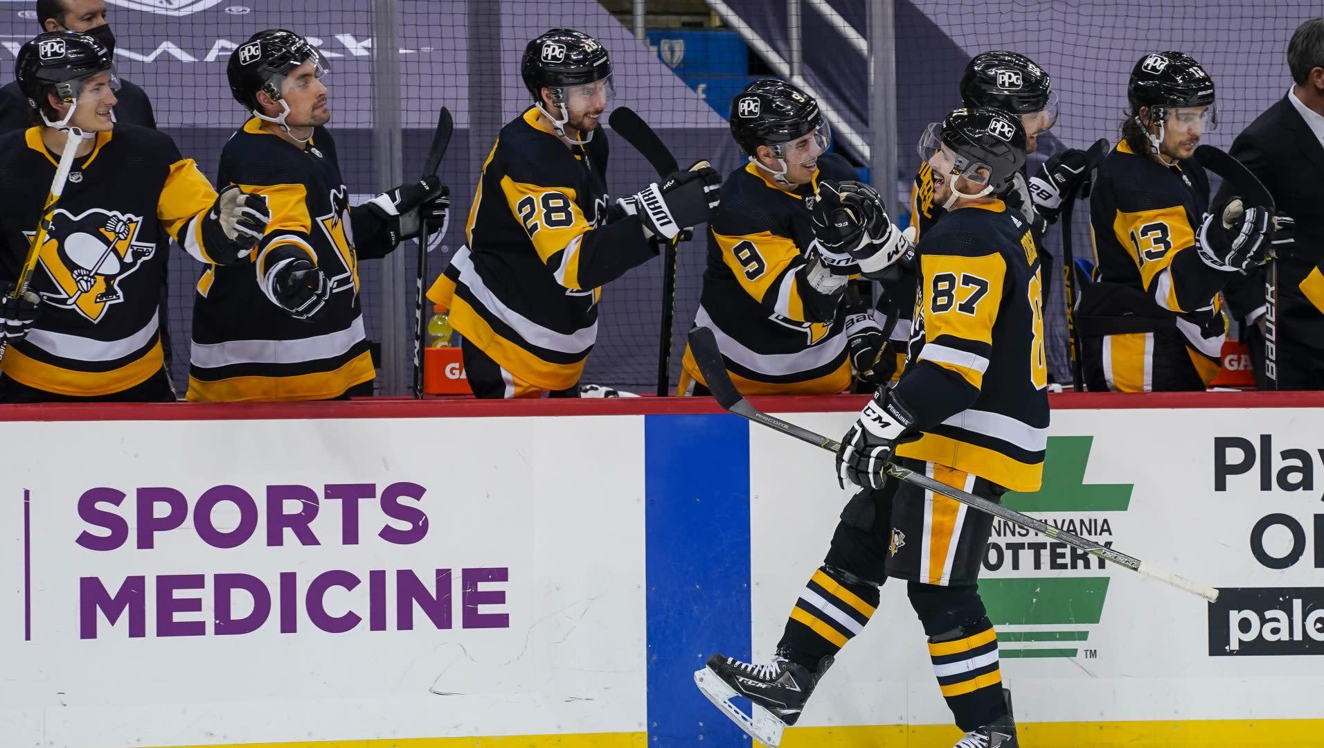 Penguins score 3 goals in 61 seconds to beat Rangers