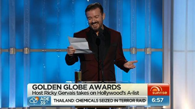Golden Globes - Ricky Gervais' war on Hollywood and Guy Pearce's loss