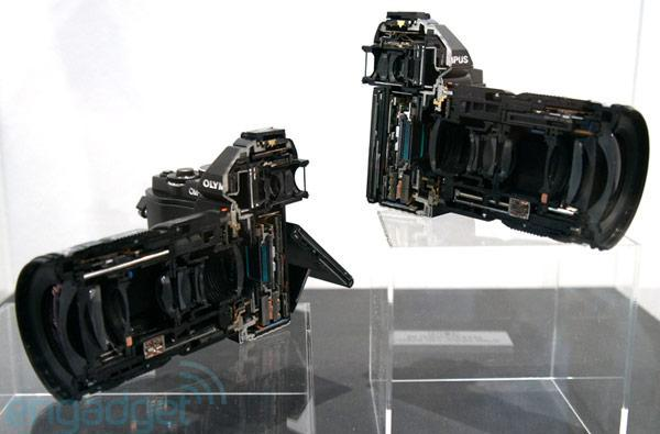 Olympus black E-M5 Micro Four Thirds camera and internals eyes-on