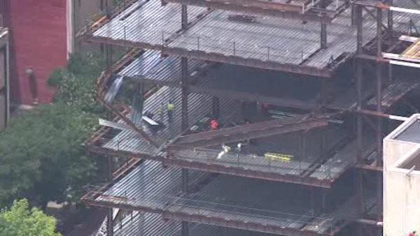 Floor collapses in Temple University building under construction