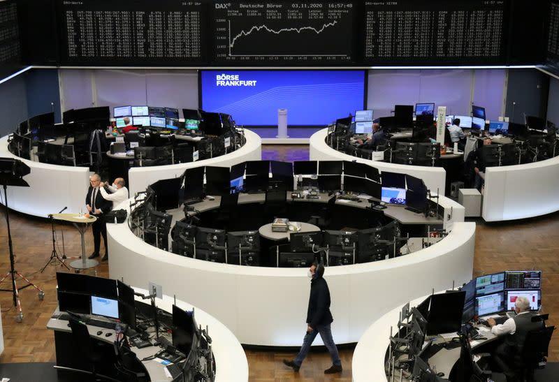 European stocks hit two-week high on tech, earnings boost