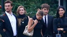Tyler Cameron Supports Gigi Hadid at Her Grandmother's Funeral
