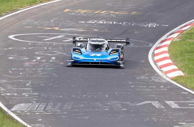 VW's electric ID.R racer smashed a Nürburgring efficiency record