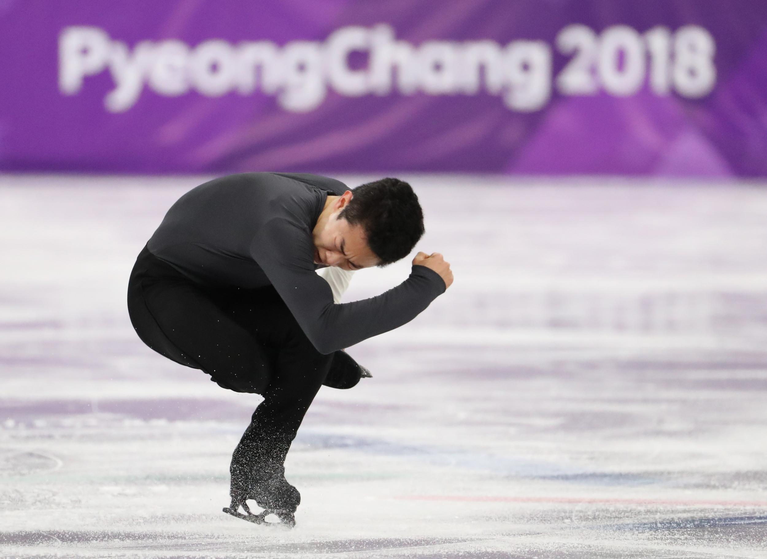 Figure Skating ? Pyeongchang 2018 Winter Olympics ? Men Single Skating short program competition ? Gangneung Ice Arena - Gangneung, South Korea ? February 16, 2018 - Nathan Chen of the U.S. performs. REUTERS/Lucy Nicholson