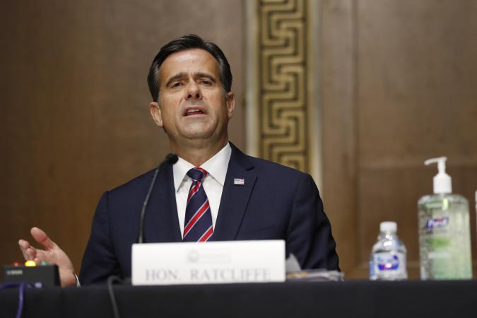 WASHINGTON, DC - MAY 05: Rep. John Ratcliffe, (R-TX), testifies before a Senate Intelligence Committee nomination hearing on Capitol Hill in Washington, Tuesday, May. 5, 2020. The panel is considering Ratcliffe's nomination for director of national intelligence. (Photo by Andrew Harnik-Pool/Getty Images)