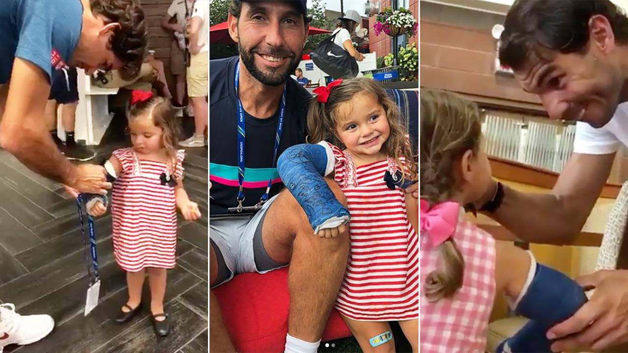 Us Open 2018 Roger Federer Rafael Nadal Gesture For Fellow Player S Daughter