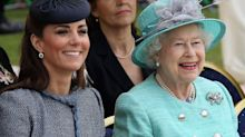 The Queen offered some kind words of support for Kate Middleton