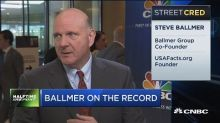 Steve Ballmer says he and Bill Gates recommended Nadella as Microsoft CEO, praises his performance