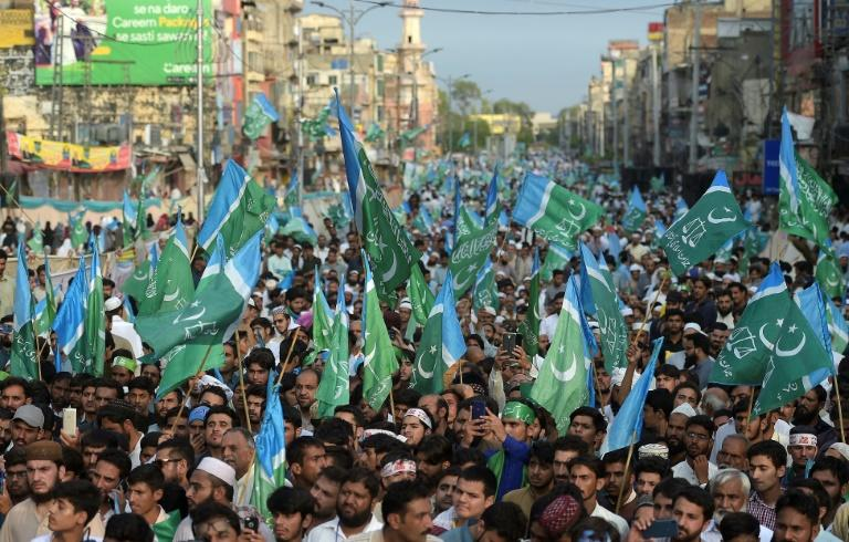 Thousands marched through the city of Rawalpindi recently to protest against rising prices (AFP Photo/AAMIR QURESHI)