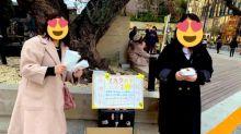 中國人東京街頭派口罩 日本OL表示感動