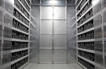 FILE PHOTO: The interior of Chinese bitcoin mining company Bitmain's mining farm is pictured near Keflavik, Iceland, June 4, 2016. REUTERS/Jemima Kelly/File Photo