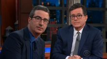 Stephen Colbert and John Oliver goad Trump to meet with Robert Mueller