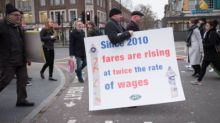 New Year rail fare hikes: Furious commuters protest at stations across UK