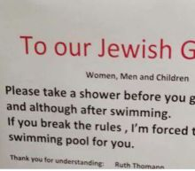 Swiss hotel sparks outrage with signs about 'Jewish guests'