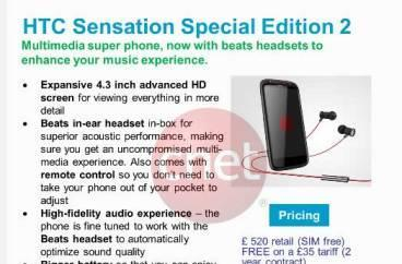 HTC working on Sensation special edition with Beats and 1.5GHz dual-core CPU?