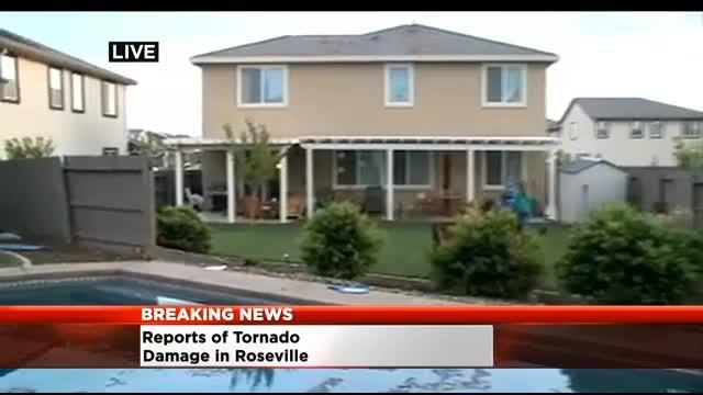 Tornado Damages Roseville Home