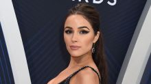 Olivia Culpo Strikes a Pose in Skin-Tight Leather Pants & $850 Chunky Sneakers
