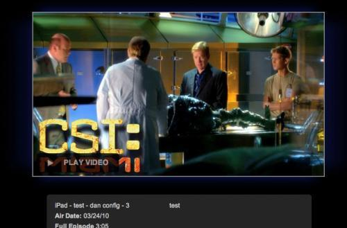 CBS testing HTML5 iPad video out in the open, sorry Flash