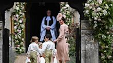 Duchess of Cambridge wears pink McQueen to sister Pippa Middleton's wedding