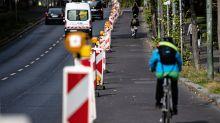 Verkehrsprojekt: Gericht: Pop-up-Radwege dürfen vorerst bleiben