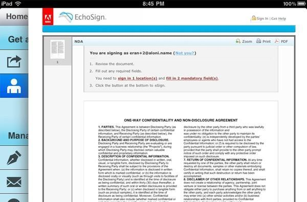 Adobe releases EchoSign app for iOS, enables legally binding contracts to be signed with a 'click'