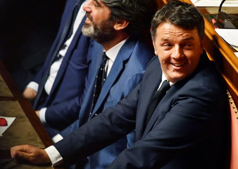 """Ex-premier Matteo Renzi has floated the idea of an """"institutional"""" government to steer the country to new elections (AFP Photo/Andreas SOLARO)"""