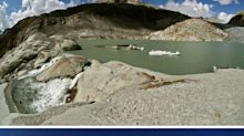 Estas fotos muestran lo rápido que está desapareciendo el hielo de los glaciares suizos