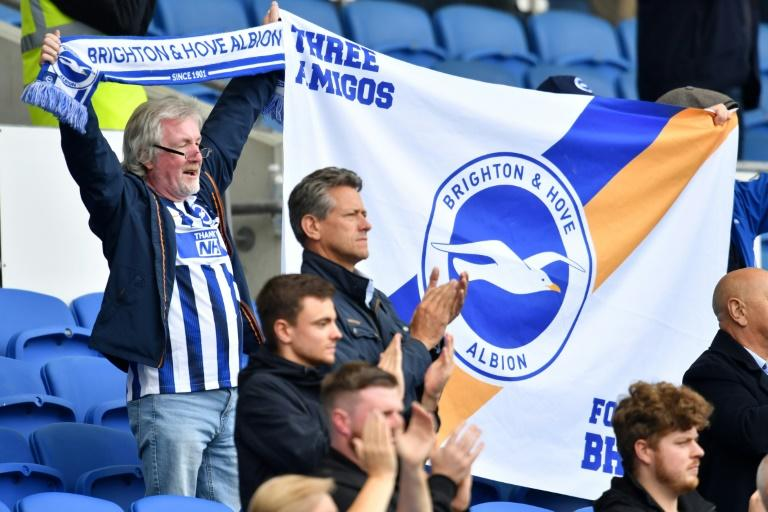 Fans attend a pre-season friendly between Brighton and Chelsea