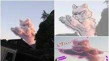 日本火山爆發煙霧 網民話超似「跳躍中的貓」