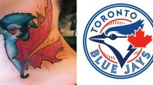Woman gets sentimental neck tattoo and then realizes it's the Toronto Blue Jays logo