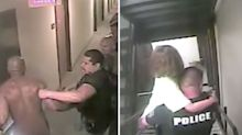Dramatic moment kidnapped girl, 8, is rescued from hotel room