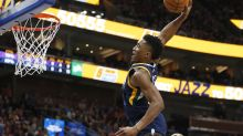 Jazz rookie Donovan Mitchell steals show with highlight dunk in win vs. Lakers