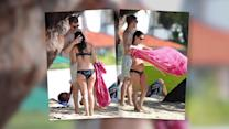 Rachel Bilson Enjoys Beach Time With Hayden Christensen