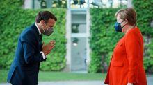 Merkel und Macron einig bei Corona, Russland und Türkei