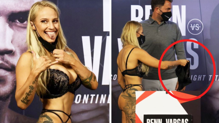 'Broke the internet': Aussie boxer's weigh-in attire sparks debate
